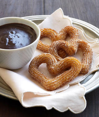 Churros With Spiced Chocolate Bisque Recipes — Dishmaps