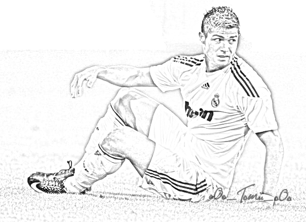 soccer coloring pages ronaldo hair - photo#29